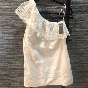 Abercrombie & Fitch Eyelet One Shoulder Dress
